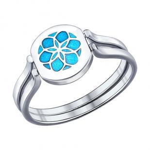 Серебряное кольцо Счастье 94011826 фото
