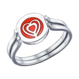 Серебряное кольцо Любовь 94011829 фото