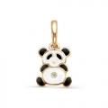 Золотой кулон Медведь панда