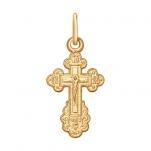 Детский золотой крестик  Диамант