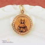 Золотая нательная икона Святая Наталия