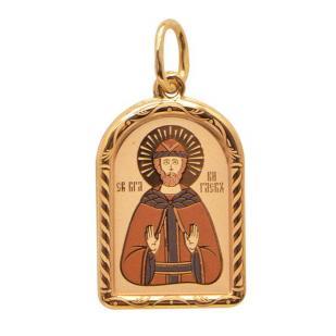 Золотая икона Святой Глеб