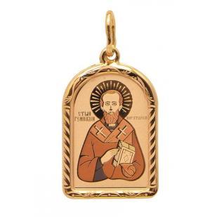 Золотая икона Святой Геннадий