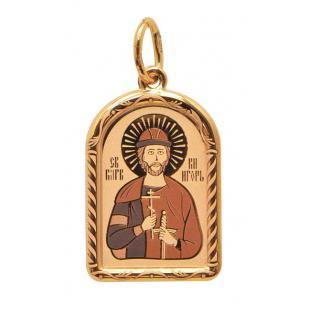 Золотая икона Святой Игорь фото