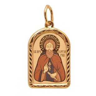 Золотая икона Сергий Радонежский