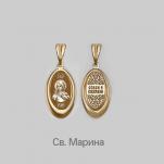 Золотая подвеска иконка Марина Св