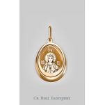 Золотая иконка Екатерина Св