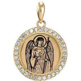 Кулон золотой с Ангел-Хранитель
