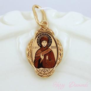 Золотая иконка Анна св.
