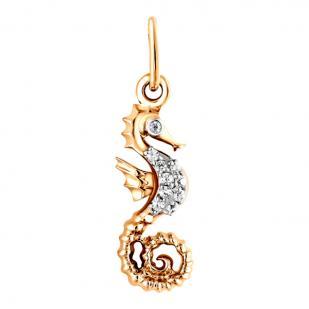 Золотая подвеска морской конек