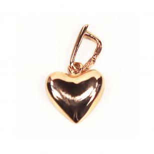 Кулон маленькое золотое сердечко фото