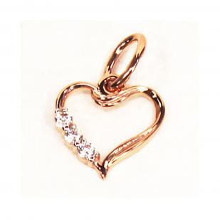 Любимое золотое сердечко подвеска