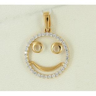 Золотой Smile кулончик