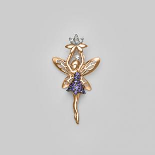 Золотая подвеска волшебная фея фото