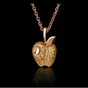 Золотая подвеска яблочко фото