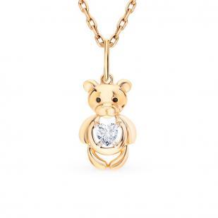Подвеска из золота Мишка 035256