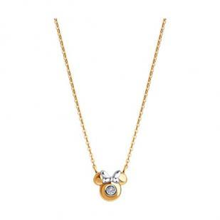 Золотая подвеска с цепочкой Minnie mouse фото