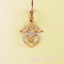 Подвеска сердце с ангелом