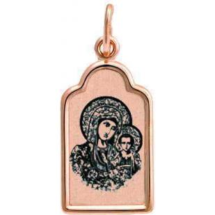 Детская нательная иконка Казанская Божья Матерь