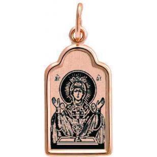 Золотая нательная икона Неупиваемая Чаша