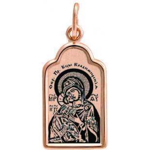 Нательная икона Божьей матери Владимирская