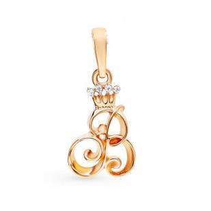 Золотая буква В с короной фото