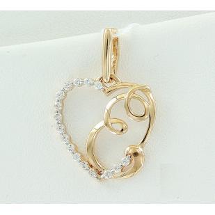 Золотая буква Е сердечко фото