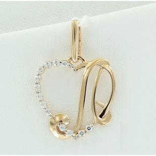 Золотая буква Л сердечко фото