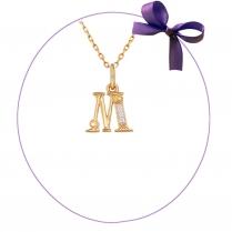 """""""М"""" золотая подвеска"""