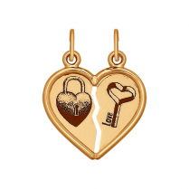 "Кулон сердце пополам ""Ключ от Сердца"""