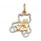 Золотая подвеска Медвежонок