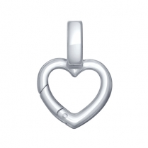 Подвеска карабин в форме сердца 94031594