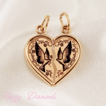 Подвеска для влюбленных Сердце на двоих