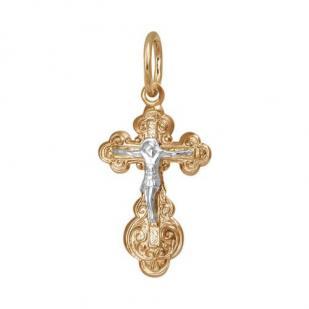 Красивый золотой женский крестик 1-0052 фото