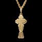Детский крестик с бриллиантом желтое золото