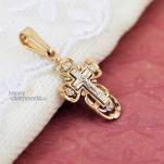 Крестик из комбинированного золота
