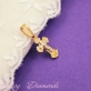 Золотой детский крестик 10046