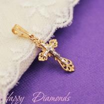 Крест золотой ажурный