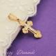 Золотой нательный крест 10223