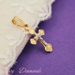 Золотой детский крестик 12710