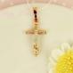 Крест из комбинированного золота 585