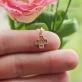 Детский золотой крестик с фианитами