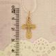 Золотой крест классической формы