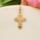 Крест из красного золота 0200502