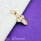 Золотой крест с белой эмалью