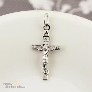 Православный золотой крест прямой формы