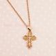 Золотой ажурный крест с фианитами