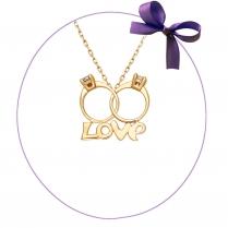 Золотой кулончик LOVE