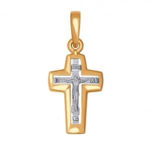 Золотой крестик прямой формы