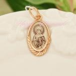 Серебряный образок со Святым Покровителем (позолота)